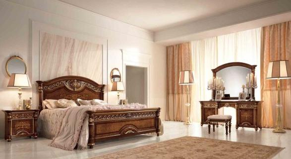 спальня италия LUIGI XVI noce con oro